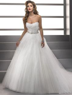 Bridesire - Duchesse-Linie U-Ausschnitt ärmellos Brautkleid [158771] - €200.55 : Bridesire