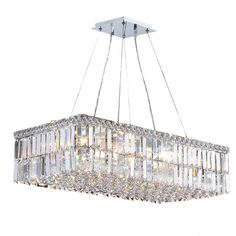 This stunning 16-light Crystal Chandelier only uses the best quality material and workmanship ensuring a beautiful heirloom quality piece. Featuring a radiant chrome finish and finely cut premium grad
