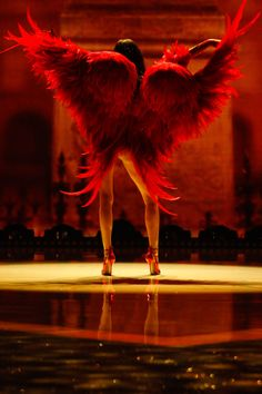If I ever become an Angel.I want red wings Vs Angels, Angels And Demons, Fallen Angels, Dark Angels, Guardian Angels, Victoria Secret Angels, Victoria Secret Fashion Show, Ange Demon, Arte Obscura