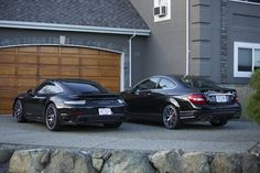 911 Turbo S & C63 AMG (507) Coupe