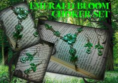 Emerald Bloom Choker Set by ArtbyStarlaMoore on Etsy, $30.00