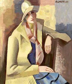 André Lhote (French, 1885-1962) Portrait d'Anne