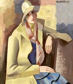 André Lhote (French, 1885-1962) Portrait d'Anne. André Lhote was a French sculptor and painter of figure subjects, portraits, landscapes and still life. He was also very active and influential as a teacher and writer on art.