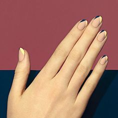 No length? No problem. On the blog this week: great looks for shorter nails! We'll tailor each look on our menu to flatter your very own nail shape and length. Divergent (seen here) is one of our favorites for indulging in painted tips even when nails are short. Trust us! #paintboxmani #nailart