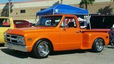C10 Stepside, C10 Trucks, Classic Chevy Trucks, Chevy C10, Orange Crush, Vintage Trucks, Custom Trucks, Rat, Automobile