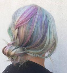 Opal Inspired! Hair by Jessi. Cabello Opal, Pastel Highlights, Peekaboo Highlights, Pelo Multicolor, Opal Hair, Unicorn Hair, Soft Hair, Wavy Hair, Mermaid Hair