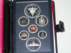 Stamp Pickers RCM 1982 Canada Proof Sterling Silver Dollar Set Silver Dollar, Auction, Notebook, Canada, Stamp, Sterling Silver, Stamps, Exercise Book, The Notebook