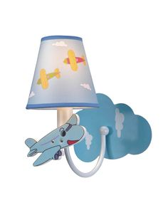 Airplane Theme Tapered Wall Sconce for Children's Room