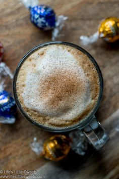 This Lindt Chocolate Truffle Mocha Coffee is a hot coffee recipe that's so easy to make with just 2 required ingredients and optionally topped with steamed milk (or your favorite creamer). The perfect coffee treat for the holiday season or year-round! #lifeslittlesweets #chocolate #coffee #mocha #coffeedrinks #drinks #Lindtchocolatetruffles #truffle #recipe Drink Recipes Nonalcoholic, Easy Drink Recipes, Sweets Recipes, Coffee Recipes, Lindt Chocolate Truffles, Chocolate Hazelnut, Chocolate Coffee, Chocolate Recipes, Mocha Coffee
