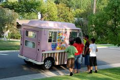 Ye olde ice cream truck.  You know its summer when they come out.