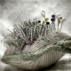 Pincushion with a lot of pins..