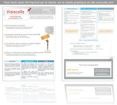Flyer qui devait respecter la charte graphique et l'esprit Visiocolle.com, imprimé par la cliente, recto verso A4