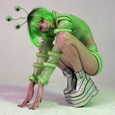 Free, fast shipping on Cosmic Creature Costume Set at Dolls Kill, an online Halloween and costumes store. Shop sexy Halloween costumes for adult women here today! Festival Outfits, Festival Fashion, Halloween 2019, Halloween Party, How To Have Style, Alien Party, Alien Aesthetic, Diy Costumes, Alien Costumes