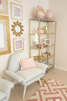 pink gold linen palette
