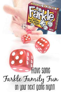 Have a Farkle Family Fun game night! Family Fun Games, Family Fun Night, Family Activities, Family Matters, Activity Games, Kids And Parenting, Parenting Tips, Kids Learning, Kids Playing