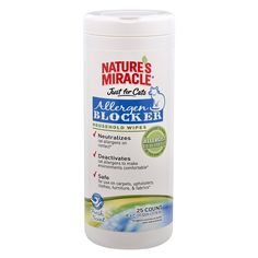 Nature's Miracle Nature's Miracle Just for Cats Allergen Blocker Household Wipes, 25 wipes (NM-5582) ^^ Details can be found  : Cat litter