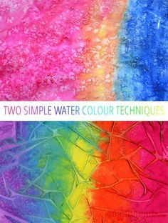 Two easy water colour techniques to try!