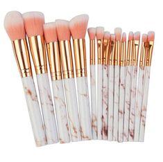 Unicorn Makeup Brushes Set, Unicorn Brush, Best Brushes For Makeup, Make Makeup, Makeup Tools, Prom Makeup, Makeup Stuff, Dress Makeup, Bridal Makeup