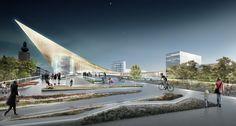 BIG propõe projeto de remodelação da estação ferroviária de Västerås, Suécia