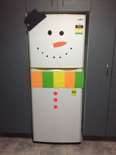 Turn your fridge into a awesome snowman