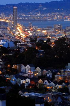 San Francisco, CA at night