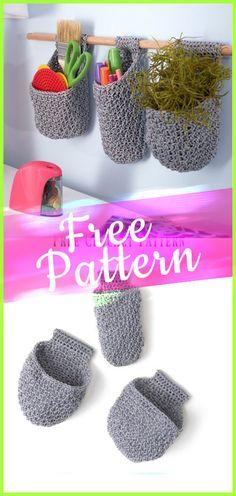 Crochet Pattern Hanging Baskets  #freepattern #crochet #freecrochet