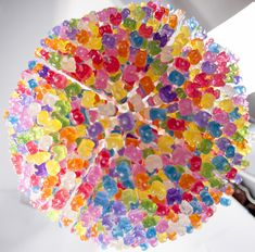 Dream come true: Yummy light. Chandelier Made from 3,000 Gummy Bears by Kevin Champeny