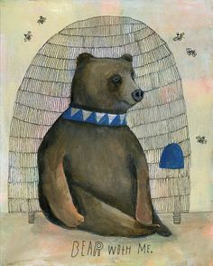 Lisa Congdon Bear With Me Art Print by lisacongdon on Etsy