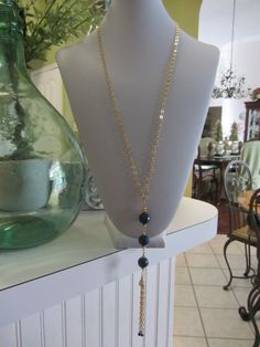 Faceted Blue Jade And High Quality 18kt. Gold by JKCustomDesigns