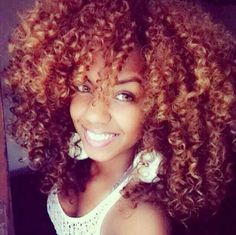Beautiful color on natural hair