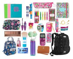 """""""Preppy back to school"""" by acmac221 ❤ liked on Polyvore featuring The North Face, Vera Bradley, Lilly Pulitzer, Sharpie, Paper Mate, PhunkeeTree, Mix & Match, Maybelline, CamelBak and Emi-Jay"""