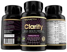"""#1 Brain Supplement Nootropic, Mind & Energy Booster ~""""Clarity by Neovicta""""~ Improve Focus, Memory & Mood; Promotes Superior Brain Function in Men & Women; 30 Day Supply; Money Back Guarantee 