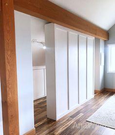 64 super ideas for clothes closet organization diy ana white Master Closet, Closet Bedroom, Closet Wall, Basement Bedrooms, Ana White, Bedroom Divider, Room Divider Bookcase, Ikea Room Divider, Divider Walls