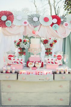 Carnival wedding dessert table