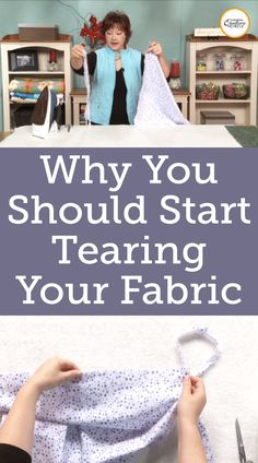 Fabric Cutting or Fabric Tearing? The Advantages to Tearing Fabric Quilting Fabric, Quilting Tips, Quilting Projects, Sewing Projects, Hobby Ideas, Good To Know, Sewing Ideas, Improve Yourself, Diy And Crafts