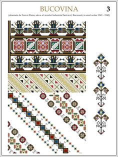 Ie Bucovina Folk Embroidery, Learn Embroidery, Floral Embroidery, Embroidery Patterns, Cross Stitch Patterns, Machine Embroidery, Knitting Patterns, Embroidery Stitches, Palestinian Embroidery