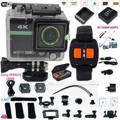 (82.62$) Buy here - ai1di.worlditems.... - 2.4G wrist RF remote Sports Camera 2.0ultra 4k 10fps 1080p Full HD Extreme Camera AT300 Plus Sport DV Camera 30M Waterproof