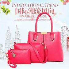 NEW Women BAG Luxury PU Leather Handbag Shoulder Message BAG Purse 3 PCS ONE SET | eBay