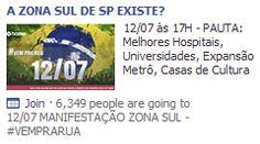 AD para as manifestações no Brasil.