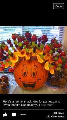 Pumpkin fruit kabob!