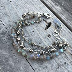 Sterling Silver Bracelet Labradorite Bracelet Handmade Wild by Joy Kruse