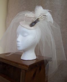 This hat and veil adds to cinderella's mothers ghostly qualities