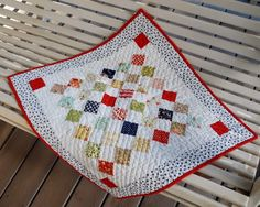 A Quilting Life - a quilt blog: Simply Small Quilts     Idea for use of Candy Squares