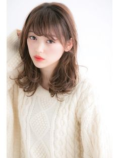 【池袋/ミディアム】20代◎大人かわいいゆるミディ Salons, Hair Styles, Hair Plait Styles, Lounges, Hair Makeup, Hairdos, Haircut Styles, Hair Cuts, Hairstyles
