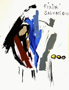 Fixin' Salvation, 2012, mixed media on paper, 65 x 50 cm.