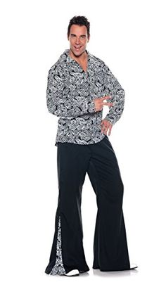 [Mens Halloween Costumes] Men's Retro Hippie Costume - Funky, Black/White, XX-Large ** Check out the image by visiting the link. (This is an affiliate link) #MensHalloweenCostumes