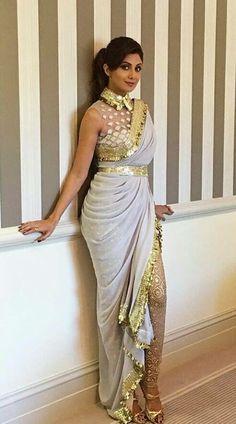 Fab or Drab . Shilpa Shetty Kundra in Abu Jani Sandeep Khosla outfit for Vikram Phadnis's 25 year in the industry celebrations . Lehenga, Dhoti Saree, Saree Gown, Anarkali, Shilpa Shetty Saree, Western Dresses, Indian Dresses, Indian Outfits, Indian Clothes