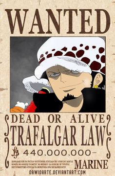 Law Dressrosa Wanted Poster