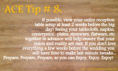 ACE Tip #8. Antonia Christianson Events; Bi-Coastal Social Event Planner.