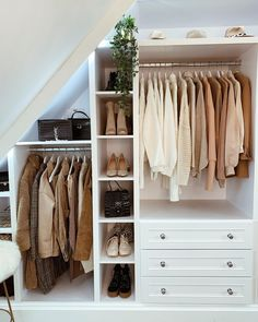 9 Kleiderschrank Ikea K. 9 wardrobe # Closet Ideas # ClosetDiyIkea kitchen planner Realize your dream kitchen Most Ikea customers are already familiar with the planning tools provided by Ikea. With the Ikea Planner Too Attic Bedroom Closets, Attic Bedroom Storage, Attic Bedroom Designs, Attic Closet, Closet Designs, Closet Bedroom, Bedroom Decor, Ikea Bedroom, Bedroom Furniture